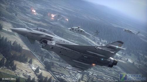 《皇牌空战6》的画面很震撼
