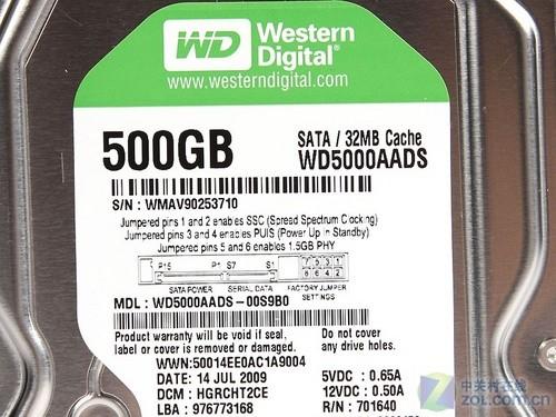 西数500GB绿版硬盘评测