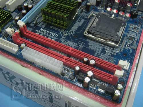 实用 固态供电铭瑄G41主板330元图片