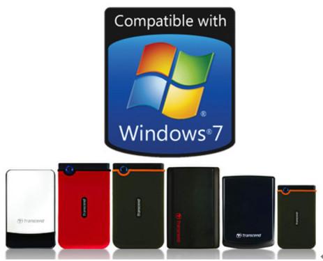 创见移动硬盘通过微软Windows 7操作系统认证