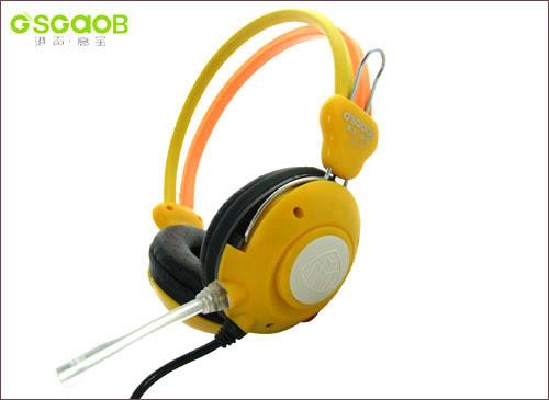 超强耐用:港声高宝网吧专用耳机精彩推荐