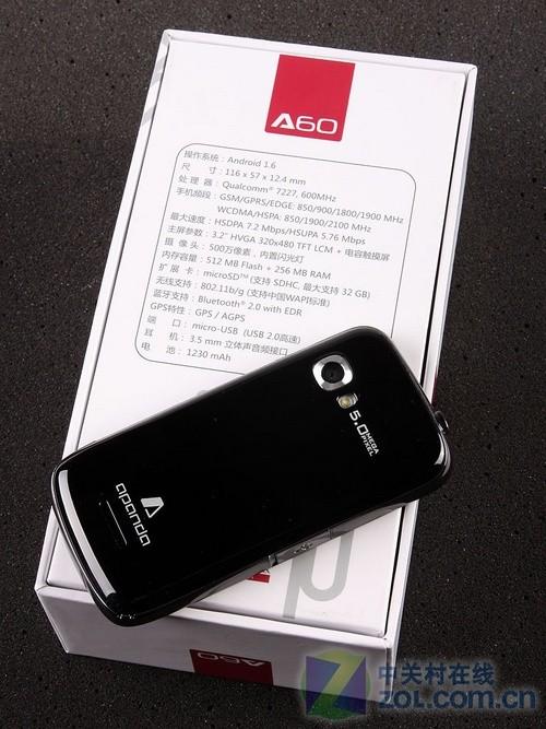 600MHz高通CPU+Android1.6 首派A60评测