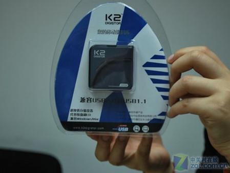 仅260元 K2玲珑30GB移动硬盘限量上市