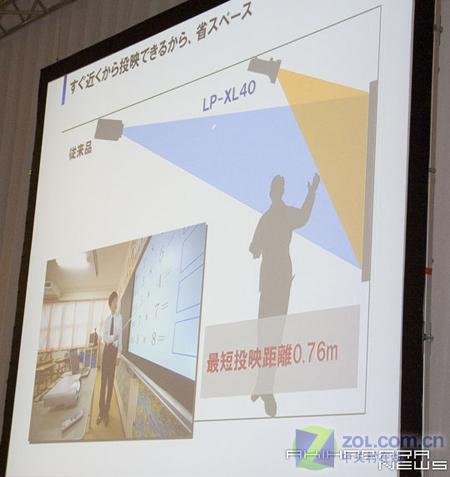 三洋超短焦投影 1米可看80英寸画面