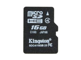 金士顿 Micro SDHC卡 Class4(16GB)