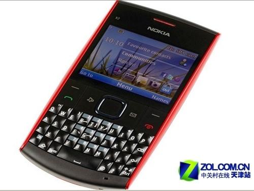 全键盘手机 诺基亚x2-01 超低价上市图片