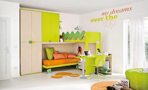 可爱的儿童卧室设计;; 儿童房;; 儿童房装修效果图片欣赏