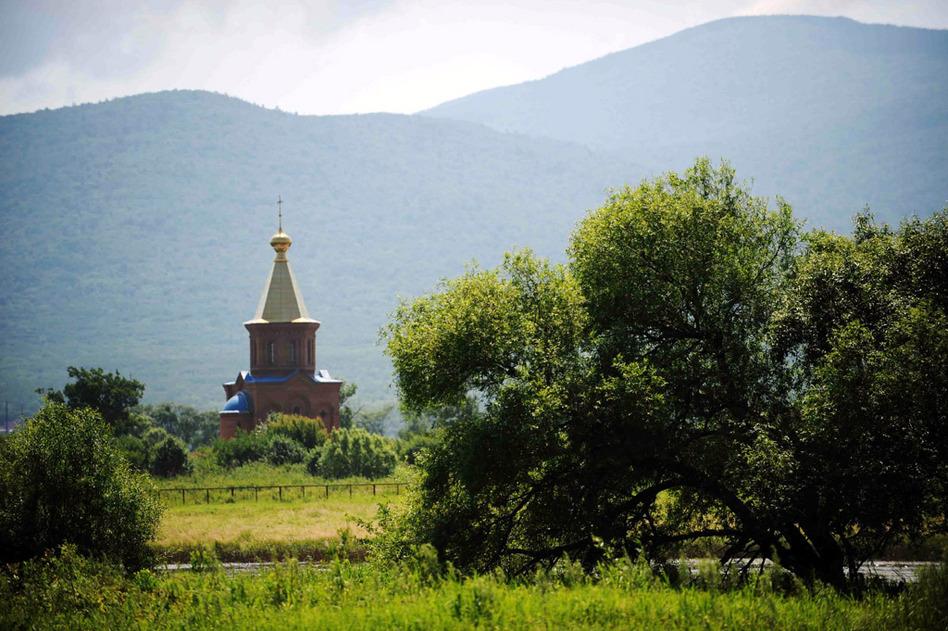 黑瞎子岛上俄方一侧的教堂