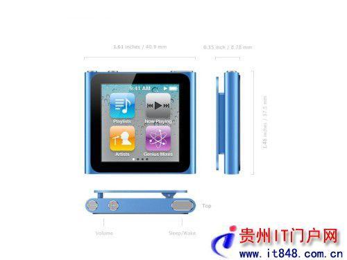 iPod nano 6 多点触控方向传感器 iPod nano 6 贵阳MP3行情