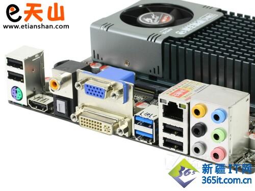 七彩虹 i-AE50 V14 主板接口部分-HTPC专用高清小板 七彩虹I AE50仅