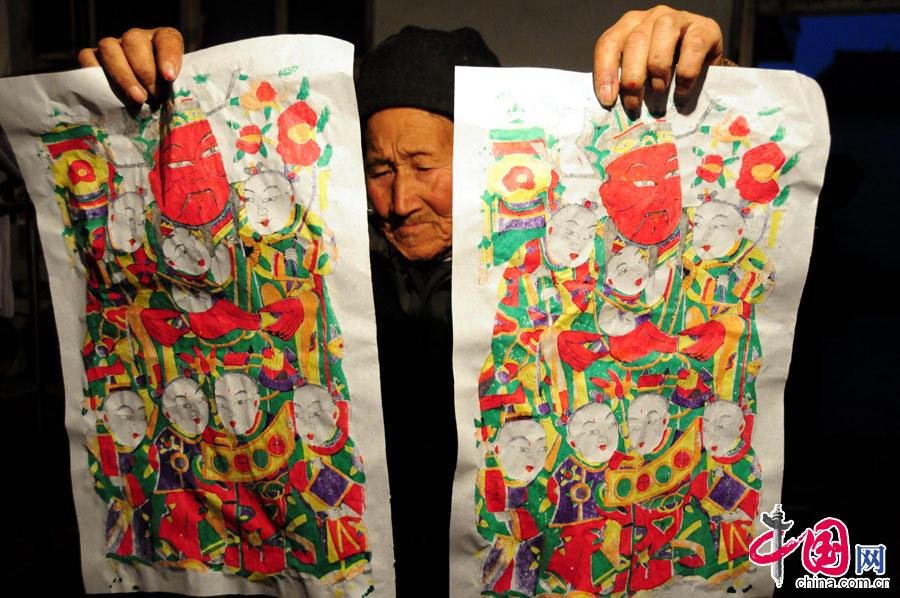 """山东郯城:记录""""200岁木板年画""""传承有人套图-第9张"""