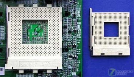 """diy电脑主板插槽芯片和接线图解; cpu插座; [hp维修]""""杭州"""