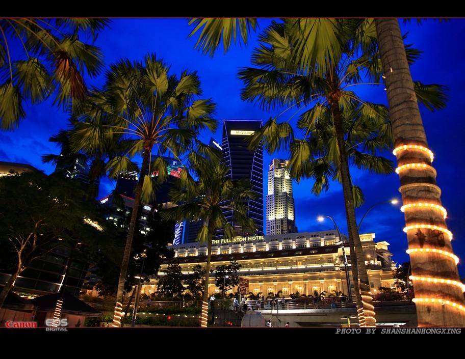 夜色新加坡 散发着妖艳光影的摩登都市 组图