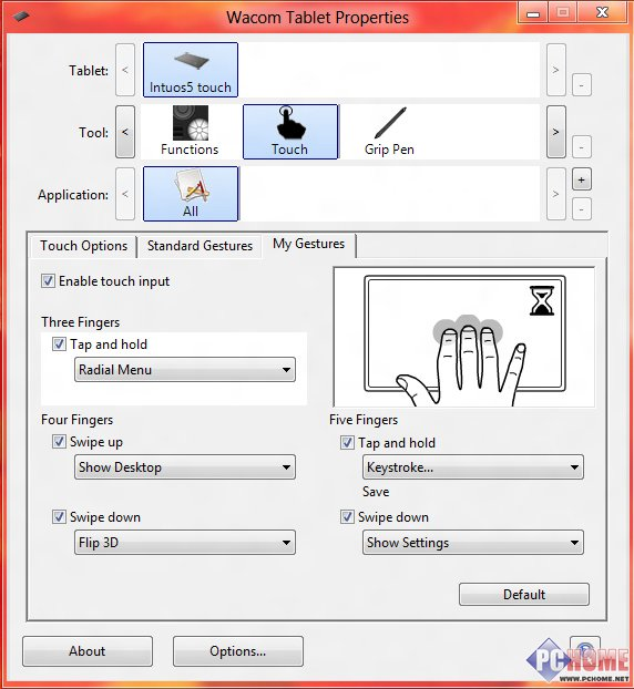 wacom影拓五代手绘板驱动设置主要分为三大项&mdash