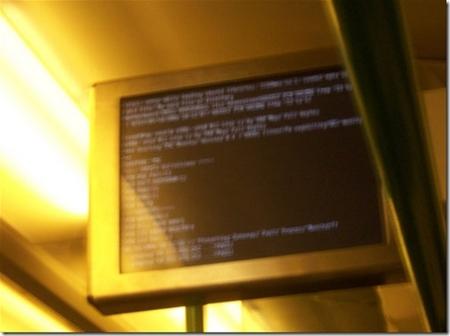 火车上的Linux系统在播放电池节目时突然崩溃