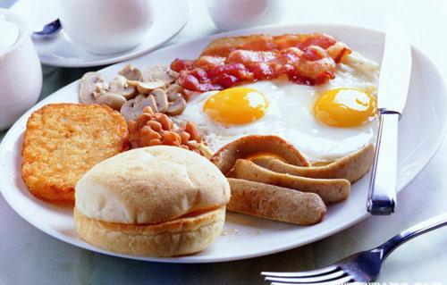 美国早餐:丰盛的美式早餐。-舌尖上的早餐 你知