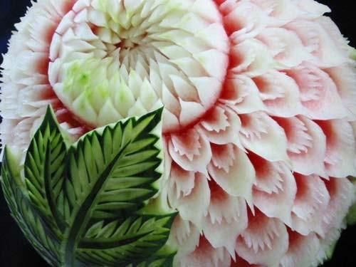 舌尖上的夏天 创意西瓜雕里的清凉艺术 组图