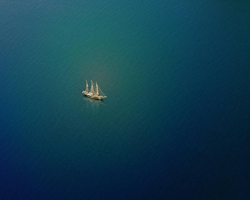 星空帆船 手绘 高清