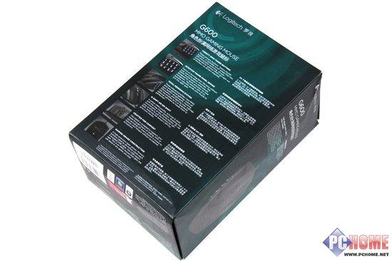 罗技G600鼠标包装背面-包装延续罗技风格 清爽墨绿