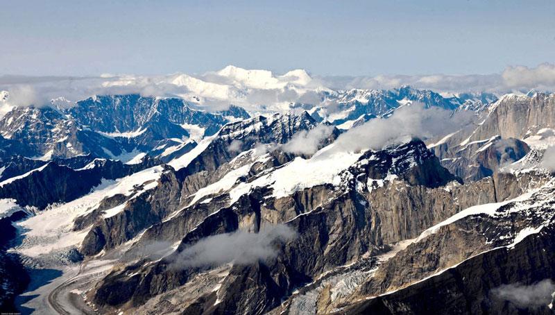 阿拉斯加 山脉群峰及冰川 行摄北美洲最高峰 鸟