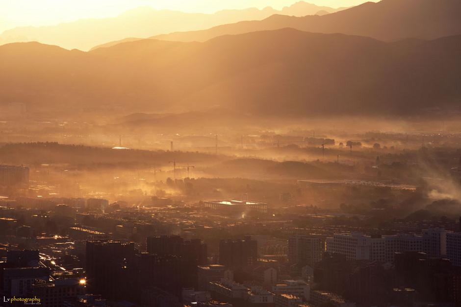 中央电视塔俯瞰北京城