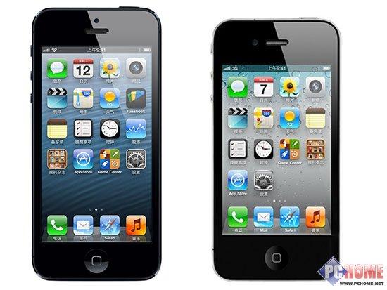 与苹果iphone4屏幕身长对比