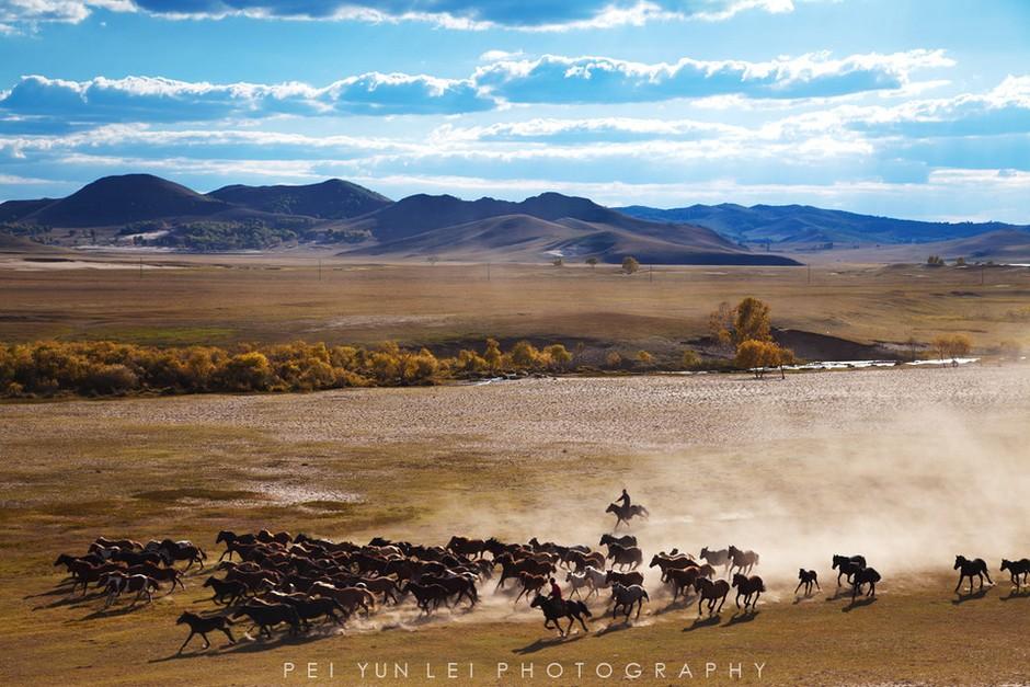 内蒙古长河风景