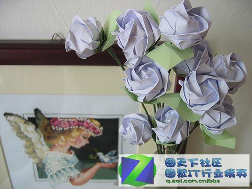 纸叠玫瑰花全步骤图; 玫瑰花;; 折纸:玫瑰花教程(一)