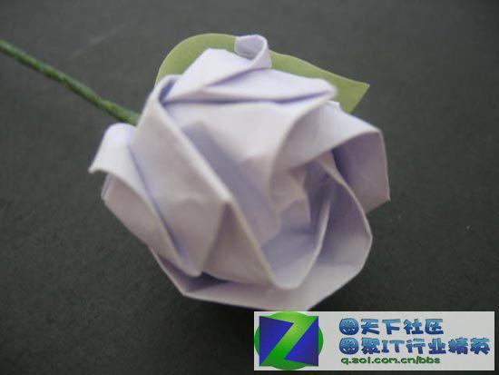 【纸叠玫瑰花组图教程(59p)】-开心浇灌论坛-zol